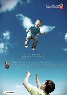 Advertising Campaign : Kids love to fly for fun. Advertising Campaign Inspiration Kids love to fly for fun. Advertisement Description Kids love to fly for fun. Sharing is caring ! Creative Advertising, Advertising Poster, Advertising Campaign, Print Ads, Poster Prints, Posters, Ad Of The World, Kids Seating, Creative Memories