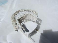 "Dollhouse White Wicker Rocking Chair 3"" Miniature Vintage Rocker | eBay"
