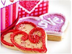 Valentine Message Sugar Cookies recipe