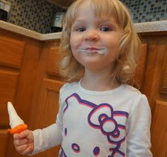The Make Me Sisters: Popcicles! Limeade Greek Yogurt Pops, to be exact.