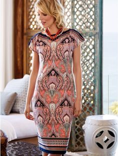 M&Co - Shop online and get the latest looks for women, men, kids and the home plus free delivery when you spend or more M&CO Marrakech, Paisley Print, Looking For Women, Sunny Days, Short Sleeve Dresses, Shopping, Collection, Fashion, Moda