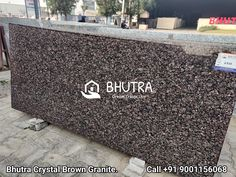 Crystal Brown Granite Is A Very Unique Quality Gray Granite In Many Different Sheds With Crystalline Brown Color Mineral. It Shows The Quality Of Natural Stones. Crystal Brown Granite Is Heat Resistant & Long Lasting Stone Because It Doesn't Looses Its Color And Shine. It Is Famous For Its Uniqueness And For Their Seamless Finish And Texture. It Is Perfect For Interior Wall And Floor Applications. We Are India's Leading Manufactures And Exporters Of Granite Products. We Offer A Wide Range Of… Brown Granite, Granite Tops, Granite Slab, Granite Suppliers, Marble Price, Black Indians, Italian Marble, Sheds, Natural Stones
