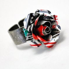 Recycled Jewelry Diet Coke Rose Ring. $16.00, via Etsy.