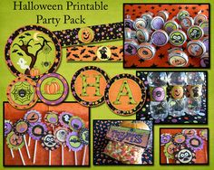 Halloween Printable Party Pack. $5.00, via Etsy.-you can purchase