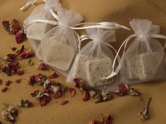 Hand-made soap Wedding Favors