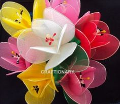 How to make nylon flower tulips