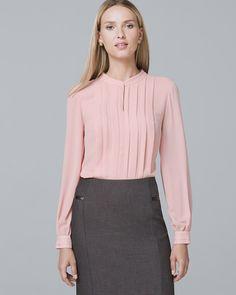 1489753b68085a Women s Pleat-Front Blouse by White House Black Market Business Clothes