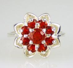Genuine Cherry Mexican Fire Opal Cluster .925 by NaturesFireGems, $154.49