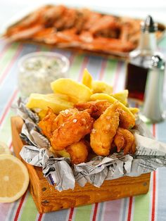 Scampi and chips by chef Paul Bloxham, photographed by CliQQ Photography for Great British Food magazine