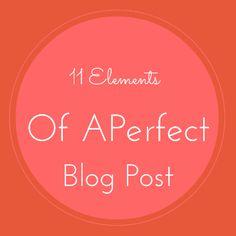 Anatomy of a Perfect Blog Post [Infographic]  http://malharbarai.com/2014/03/27/perfect-blog-post/