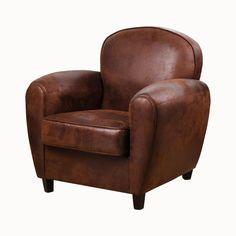 fauteuil club vintage 83 x 77 x h 81 cm marron 179 - Chaise Style Scandinave Pas Cher1838