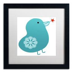 'Snowflake Bird' by Carla Martell Matted Framed Graphic Art