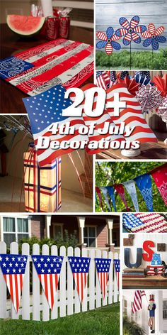 20+ 4th of July Decorations. #july4th Westfield Pediatric Dental Group | #Westfield | #NJ | www.kidsandsmiles.com