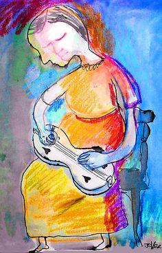 she played a dulcimer by Loui Jover