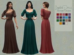 Angelica Dress The Sims 4 Catalog Maxis, Sims 4 Cc Packs, Sims 4 Mm Cc, Sims 4 Decades Challenge, Sims Medieval, Sims4 Clothes, Sims 4 Dresses, Sims 4 Clothing, Art Clothing