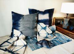 #shibori #hechoamano , #almohadones #mantas #handmade #art #Guillermo #Palermo pillow