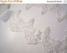 SALE white on white embroidered wall hanging by CakeEaters on Etsy