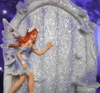 Purple Glitter Fairy Door
