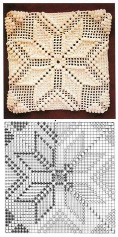 Transcendent Crochet a Solid Granny Square Ideas. Inconceivable Crochet a Solid Granny Square Ideas. Crochet Bedspread Pattern, Granny Square Crochet Pattern, Crochet Diagram, Crochet Stitches Patterns, Crochet Squares, Crochet Designs, Free Crochet, Crochet Granny, Crochet Pillow Cases