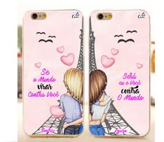 Bff Cases, Girly Phone Cases, Iphone Cases Disney, Galaxy Phone Cases, Phone Covers, Best Friend Poses, Best Friend Outfits, Best Friend Drawings, Bff Drawings
