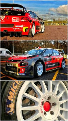First look: 2018 Citroen C3 WRC. The Citroën Total Abu Dhabi team are aiming for the top with a reworked Citroen Citroen C3. Citron's WRC drivers include: Kris Meeke, Craig Breen, Stéphane Lefebvre and Khalid Al Qassimi. Citroen finished fourth out of the four manufacturer teams last year, so will be looking for a bit leap forward with the 2018 car. #WRC #CitroenC3 Citroen Ds, Khalid, Racing Team, Rally Car, Abu Dhabi, Peugeot, Cars And Motorcycles, Offroad, Race Cars