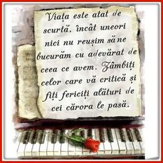 Mesaje frumoase despre viata - Viaţa este atât de scurtă Eat Right, True Words, Motto, Sayings, Quotes, Macrame, Album, God, Music