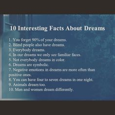 relaxation dreamfacts nightime dreams sleepy dream facts sleep relax bed Dream factsYou can find Facts about dreams and more on our website Dream Psychology, Psychology Says, Psychology Fun Facts, Psychology Quotes, Brain Facts, Science Facts, Interesting Facts About Dreams, Amazing Facts, Weird Facts About Dreams