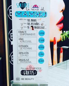 http://www.youtube.com/channel/UCqEqHuax3qm6eGA6K06_MmQ?sub_confirmation=1 Empieza el lunes sintiéndote la reina del MAMBO y disfruta de nuestras promociones!! Ahora por cada 9 servicios el 10 te sale GRATIS!! Te lo vas a perder? #bebeautysalamanca #bebeauty #belleza #cosmetics #centrodebelleza #salamanca #descuentos #mejoresprecios #woman #girl #makeup #maquillaje #maquillajeprofesional #uñas #depilacionconhilo #estensionesdepestañas #estetica by bebeautysalamanca