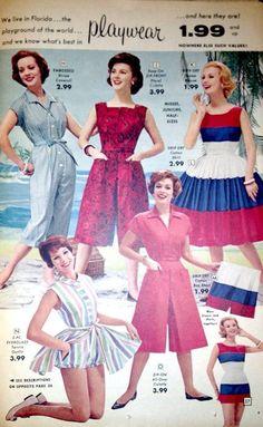 60b541bf0317 1950s Summer Fashion, Vintage Fashion 1950s, Retro Fashion, Vintage Summer  Dresses, Vintage