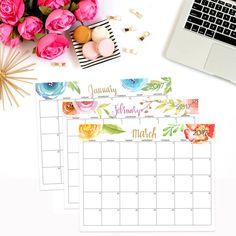 2016 2017 Calendar Printable Editable Digital by PerennialPlanner