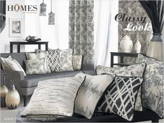 Dreamt of living #Elegant, all possible with #HomesFurnishings who offers diversities in #Style. Explore more on www.homesfurnishings.com #HomeFabrics #Cushions #Curtains #Upholstery #Furnishings #FineFabric