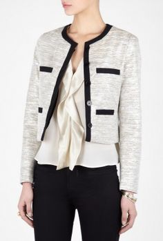 Grey Jaive Collarless Jacket by By Malene Birger