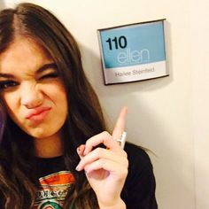 Pin for Later: This Week's Cutest Celebrity Candids Hailee Steinfeld Hailee Steinfeld made an appearance on The Ellen DeGeneres Show.