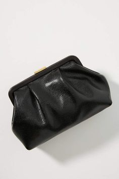 Clare V. Lizard Clutch by in Black Size: All, Clutches at Anthropologie Clare Vivier, Purses And Handbags, Zip Around Wallet, Chic, Stylish, Anthropologie, Black, Shabby Chic