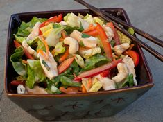 Chinese Chicken Salad with Sesame Ginger Dressing - Once Upon a Chef