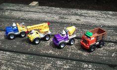 Chuck And Friends Tonka Lot Of 4 Construction Trucks Pals Vehicles 2000 Hasbro   #hasbro