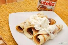 receta de crepes dulces con nutella
