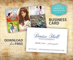 Free Business Card for Photographers | Pretty Presets for Lightroom