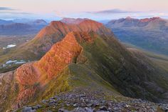 …looking West off Sgurr Mor over the horns of Alligin, Stuc loch na Cabhaig and Beinn Dearg with the mountains of Beinn Eighe and liathach in the background by stephen sellman on 500px