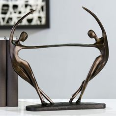 Salsa Sculpture In Bronze Finish With Black Base