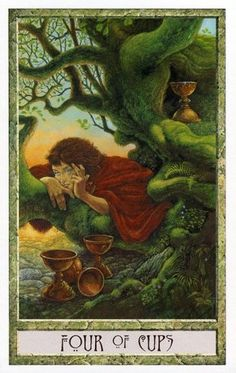 The Druid Craft Tarot ► Four of Cups