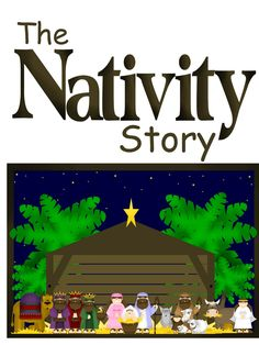 The Nativity Story - printables to laminate, put a magnet on the back, and use the printable scenes to tell the Nativity Story