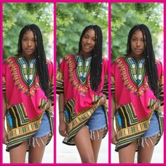 Pink dashiki dress/top Cute dashiki dress/top is great for summer events and vacations. 100% cotton Dresses Mini