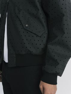 COMMON perforated Aaron Bomber Jacket