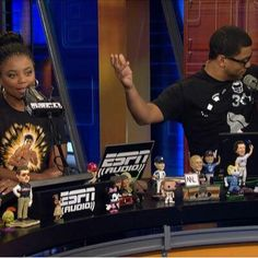 Jemele Hill and Michael Smith of ESPN His & Hers