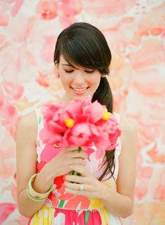 Yellow Pink wedding bouquet, pink orange yellow wedding centerpieces, read more what best summer wedding flowers