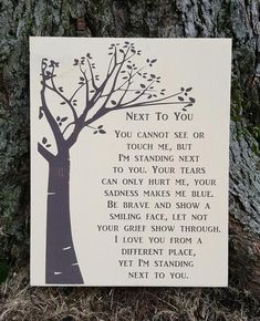 Next To You wood sign memorial remembrance tribute death remember – Kelly Belly Boo-tique Funeral Memorial, Memorial Poems, Memorial Gifts, Loss Quotes, Sign Quotes, Sympathy Quotes, Sympathy Gifts, Words Of Wisdom Love, Grief Poems