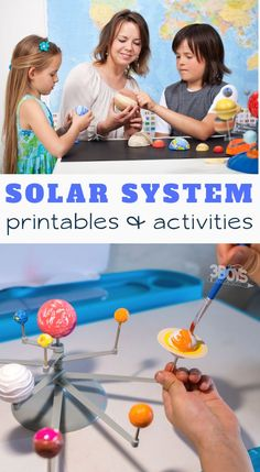 Virtual field trips, printable resources, fun educational ideas - you name it, we found it! You and your children (or tudents) will love these Free Solar System Printables and Activities! Space Activities, Science Activities For Kids, Science Experiments Kids, Science Projects, Learning Activities, Projects For Kids, Family Activities, Kindergarten Science, Solar System Projects