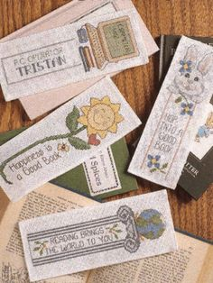 Find free and for-purchase cross stitch patterns for bookmarks. Stitch up one of these projects for yourself or give a gift to the bookworms in your life.