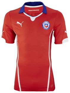 Chile Home Kit for World Cup 2014 #worldcup #brazil2014 #chile #soccer #football #CHI